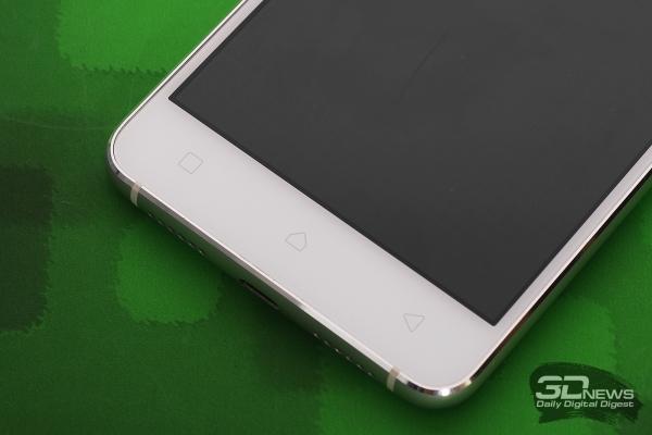 Lenovo Vibe S1 – аппаратные клавиши на лицевой панели