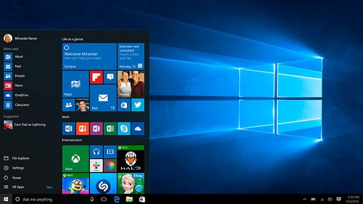 За месяц Windows 10 уже захватила более 5% мирового рынка ОС