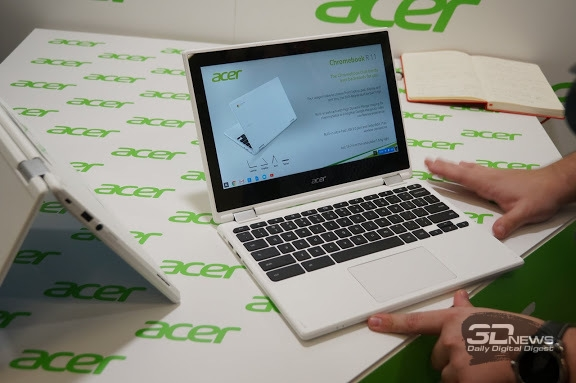 Представлен хромбук-трансформер от Acer