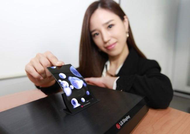 """LG готовится к массовому производству дисплеев для складных гаджетов"""""""