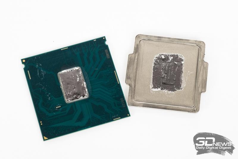 Процессор с термоинтерфейсом из жидкого металла