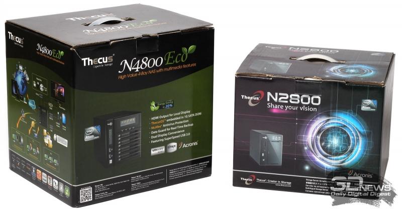 Упаковка NAS Thecus N4800ECO и Thecus N2800