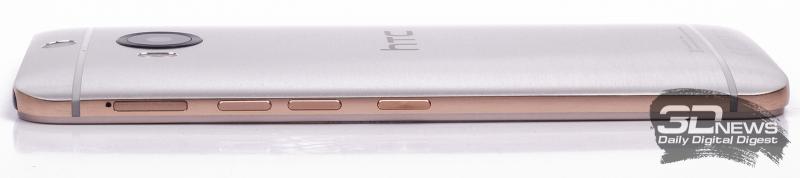 HTC One M9+ – вид сбоку