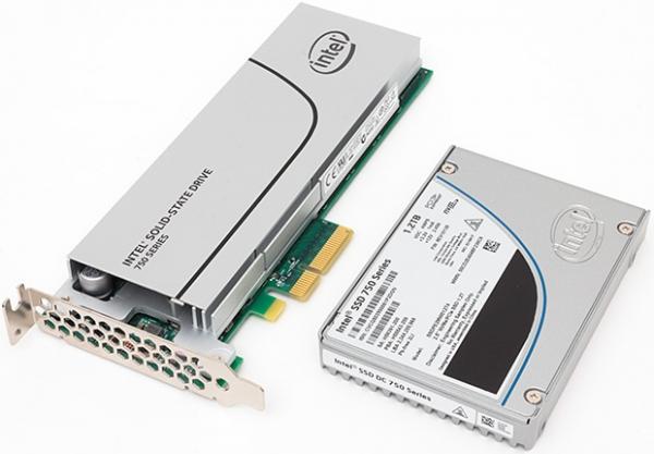 Intel 750 SSD в разных форм-факторах. Фото TechReport