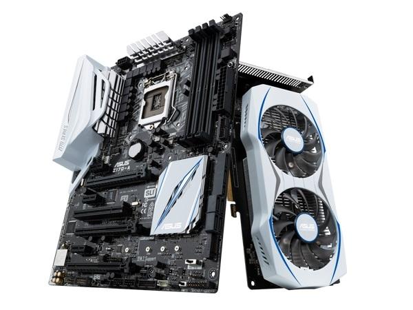 """Видеокарта ASUS GTX950-OC-2GD5 выполнена в чёрно-белых тонах"""""""