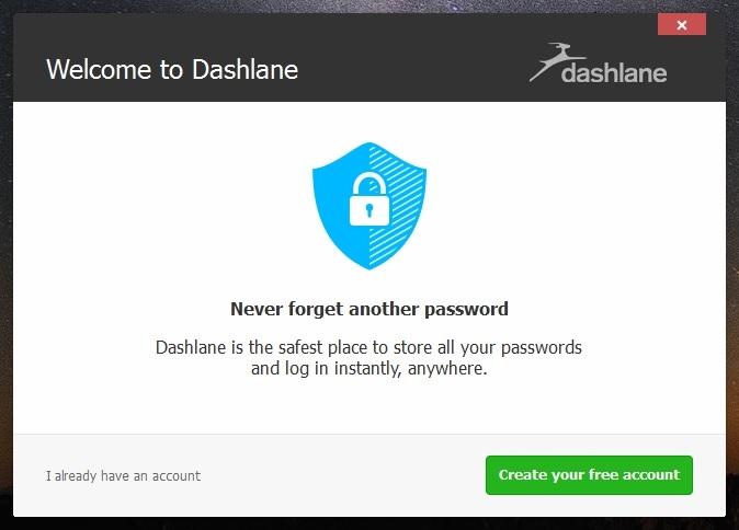 Окно приветствия Dashline