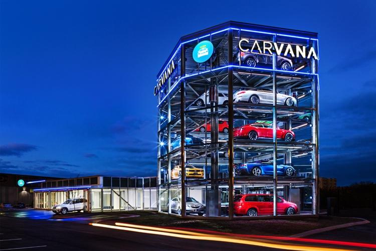 Первый в мире пятиэтажный торговый автомат по продаже машин