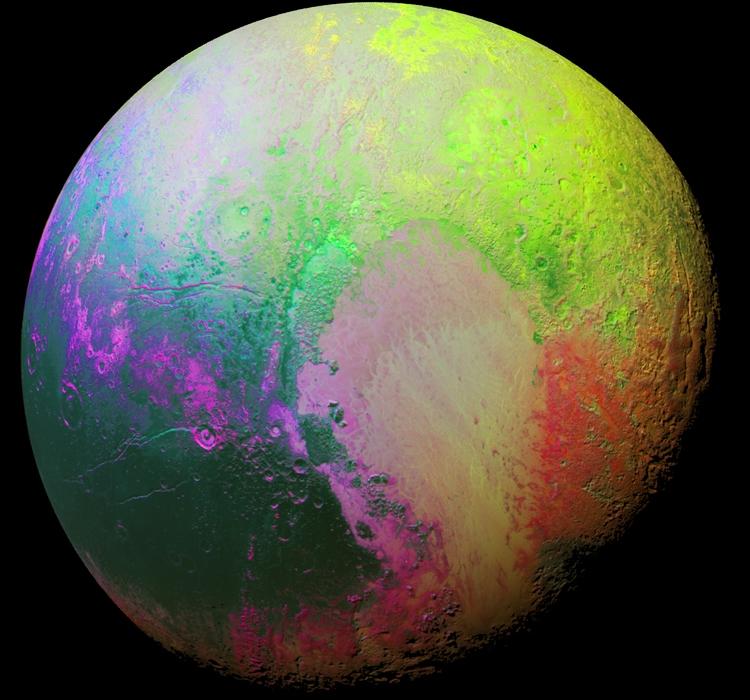 Фото дня: психоделическое изображение Плутона