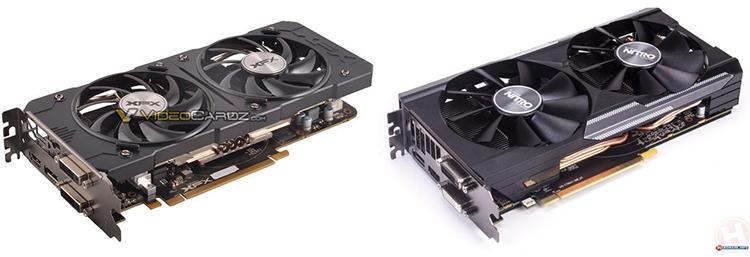 XFX Radeon R9 380X OC Double Dissipation (слева) и Sapphire Radeon R9 380X Nitro