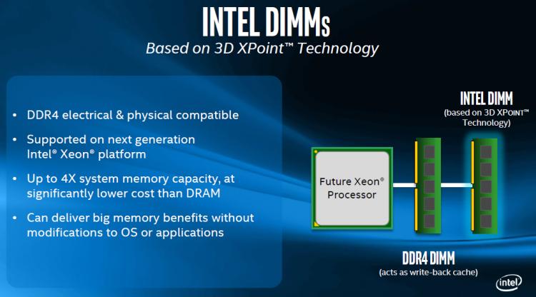 Intel DIMM на базе 3D XPoint