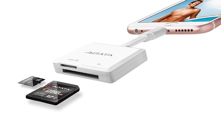 ADATA выпустила кардридер имеющий интерфейс Lightning