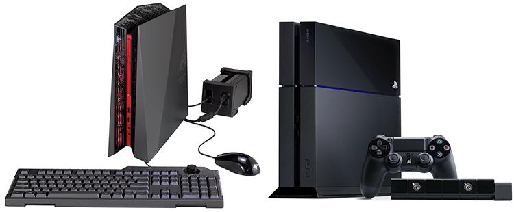 ASUS ROG G20AJ (слева) и PlayStation 4: конец вражде