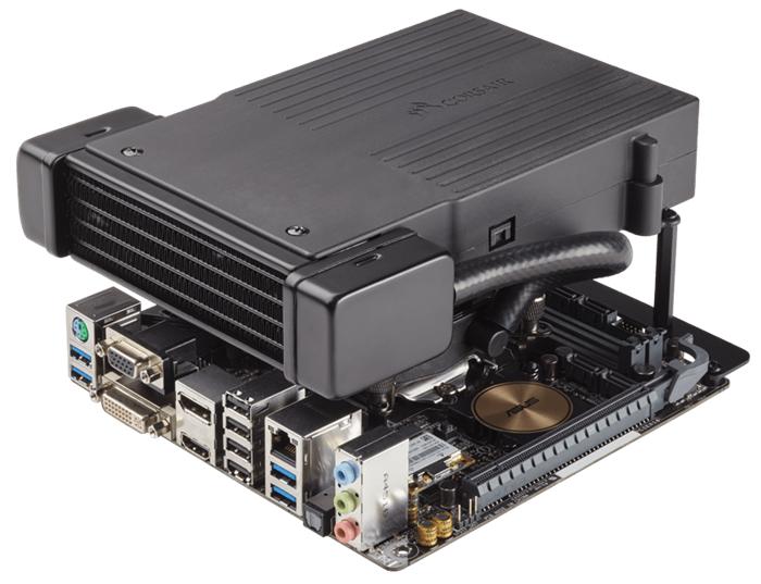 Компоновка Hydro Series H5 SF не мешает установке видеокарты