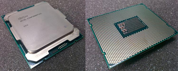 Под надписью «Intel Confidential» скрывается Xeon E5-2698 v4