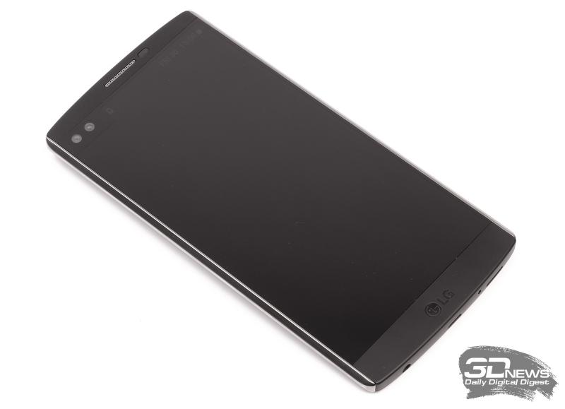 LG V10 – лицевая панель