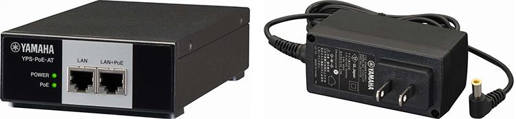 Опции питания: инъектор PoE (слева) и обычный сетевой адаптер