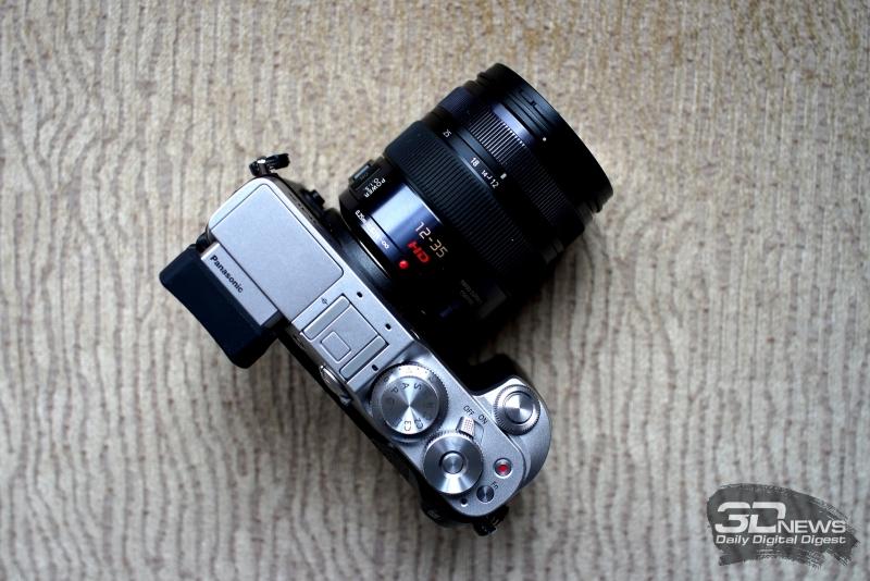Panasonic Lumix GX8, вид сверху