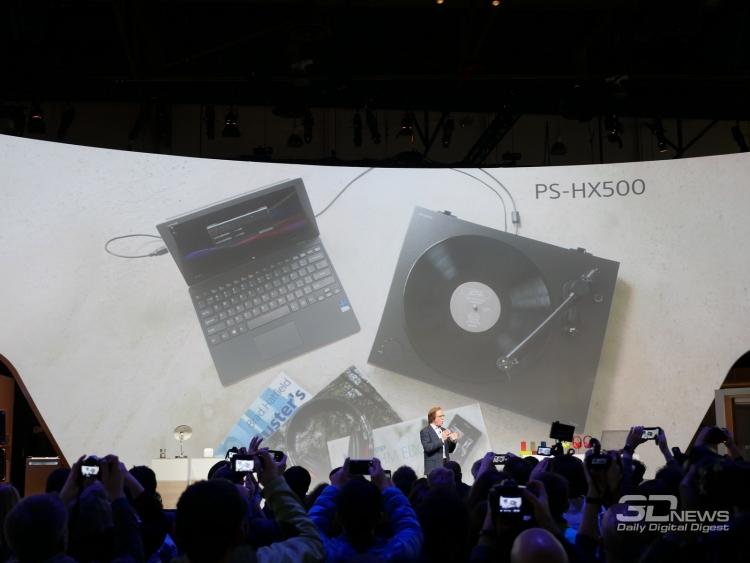 """CES 2016: Sony PS-HX500 — виниловый проигрыватель с USB-портом"""""""