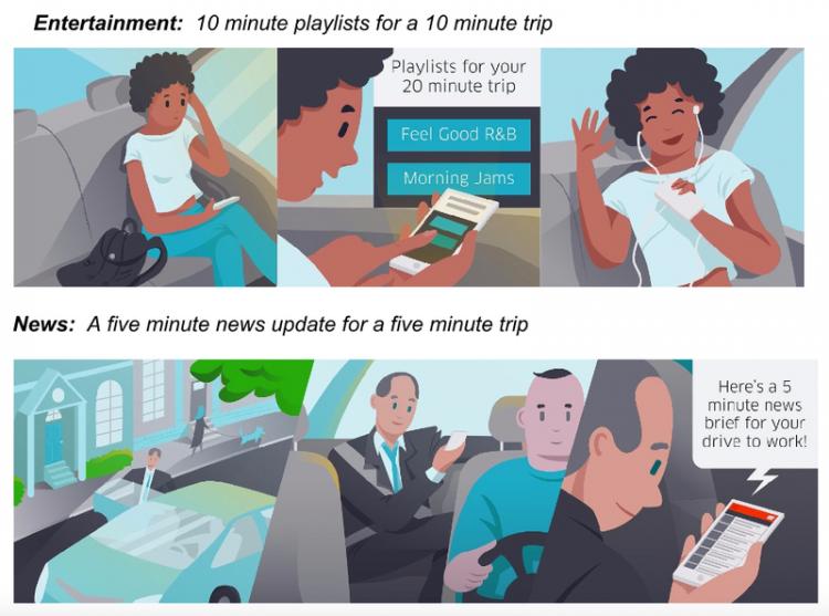 Uber будет развлекать пользователей во время поездки