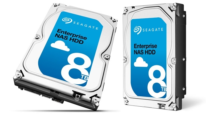 Seagate Enterprise NAS HDD ёмкостью 8 Тбайт
