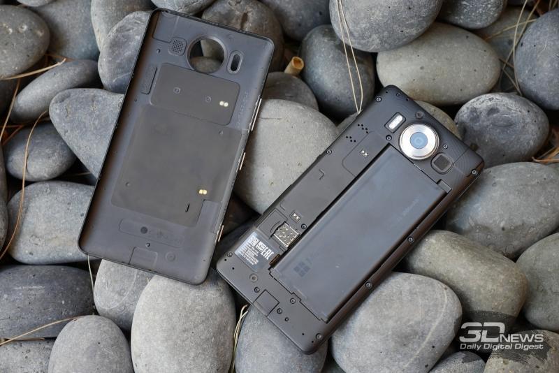 Microsoft Lumia 950 в разобранном состоянии