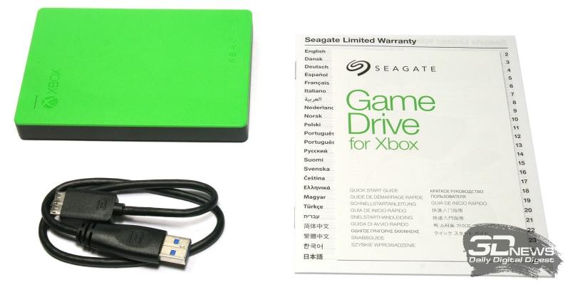 Комплект поставки Seagate Game Drive для Xbox