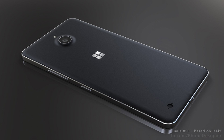 Рендерные изображения Lumia 850