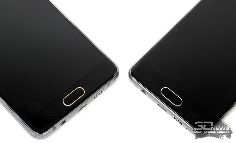 Samsung Galaxy A3 (справа) и A5 (слева) – центральные клавиши