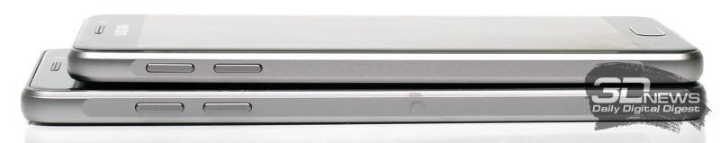 Samsung Galaxy A3 (сверху) и A5 (снизу) – боковые стороны