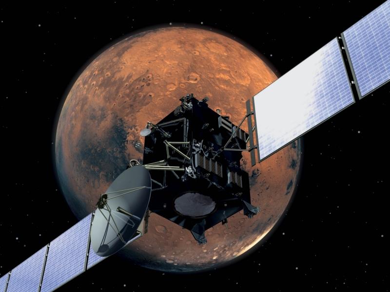 Rosetta пролетает вблизи Марса