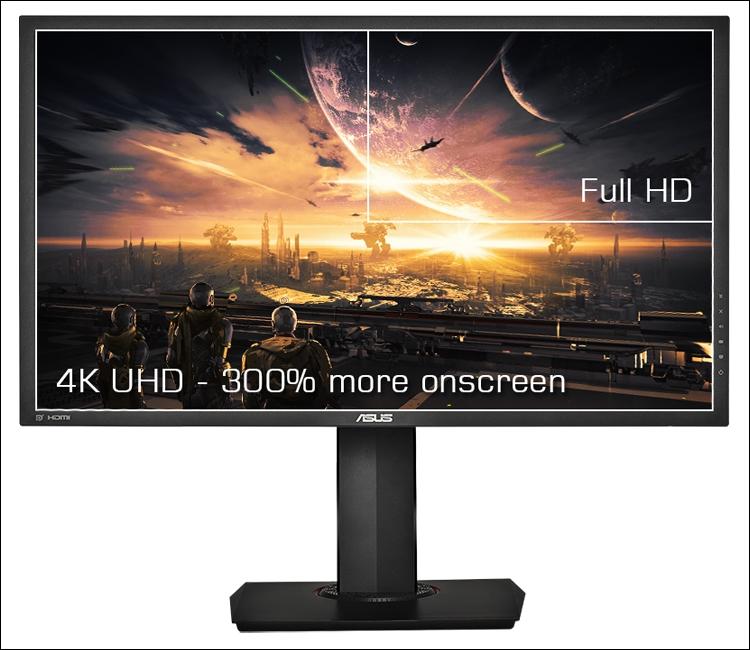 Игровой монитор ASUS MG28UQ соответствует формату 4K