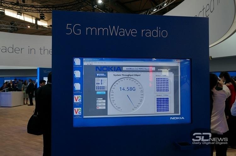 Nokia тоже демонстрировала на MWC 2016 скорость передачи данных в сетях 5G