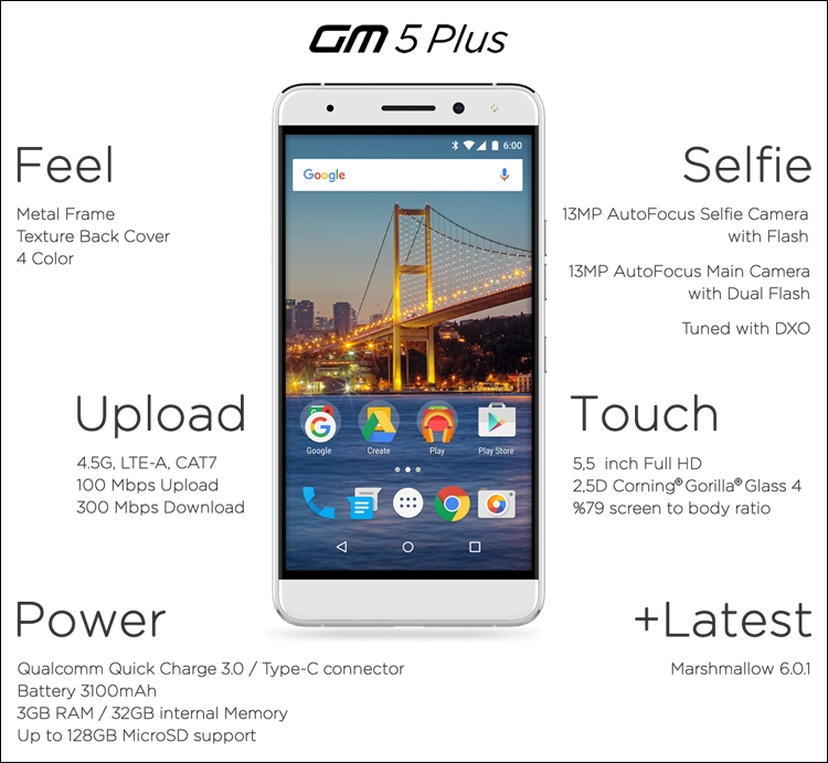 MWC 2016: смартфон General Mobile GM5 Plus на платформе Android One