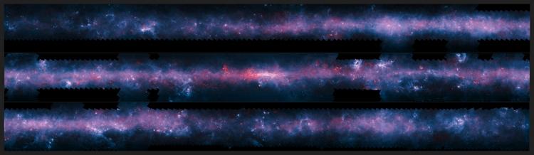 Южная часть плоскости Млечного Пути из обозрения ATLASGAL / Нажмите для увеличения