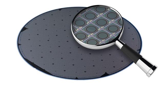 Полупроводниковая пластина с MEMS-микрофонами (Infineon)