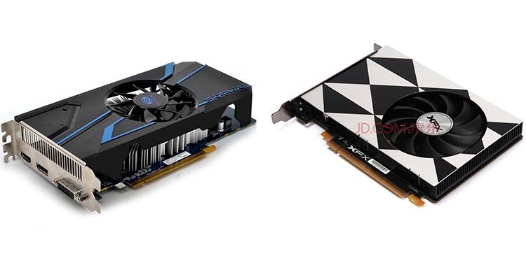 Варианты Radeon R7 350, выпущенные Sapphire (слева) и XFX
