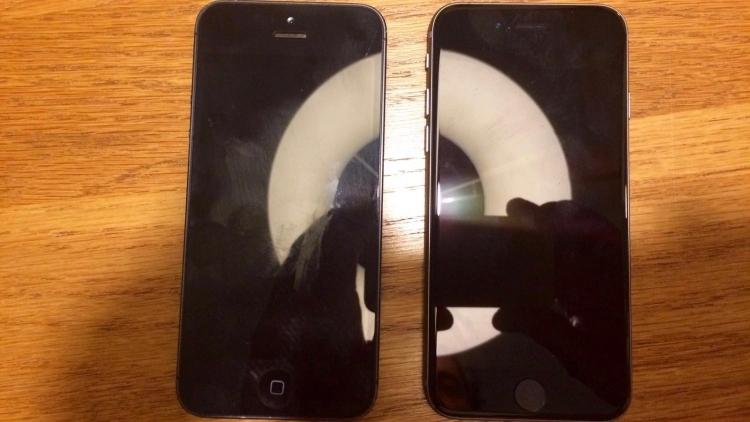 На «шпионском» фото iPhone 5 изображён рядом с новым 4