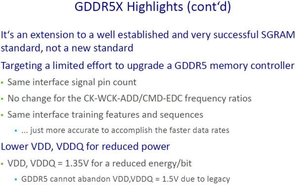 И снова об особенностях GDDR5X (Micron)