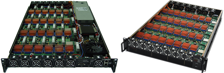 Модули с воздушным охлаждением: «Плеяда» (слева) и «Тайгета»