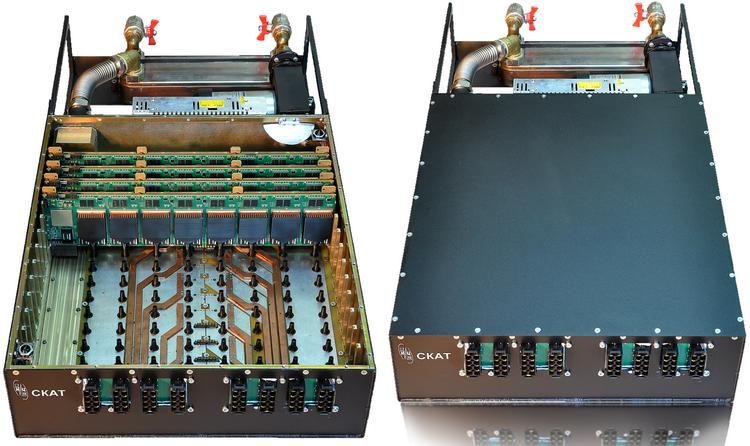 Образец модуля «Скат». Хорошо видны особенности системы охлаждения