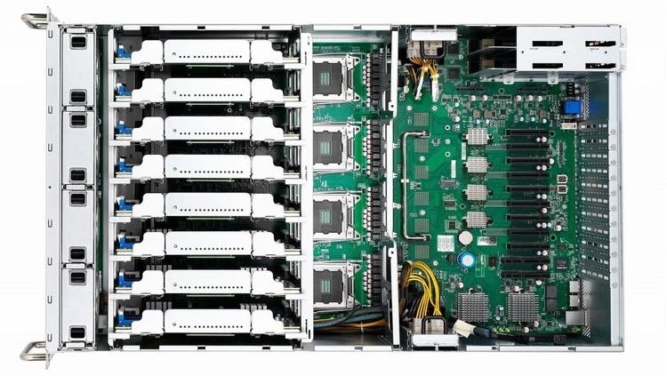 В данной версии, похоже, полноразмерные слоты PCIe x16 не распаяны