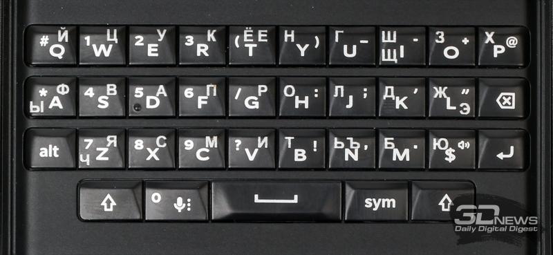 BlackBerry Priv – аппаратная клавиатура