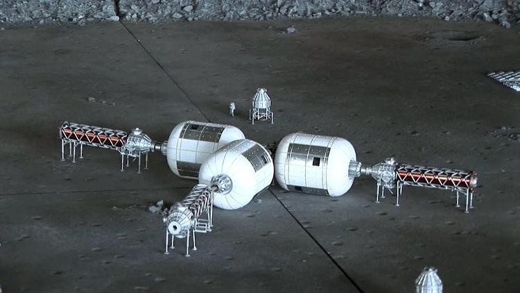 Макет надувной лунной базы по версии Bigelow Aerospace