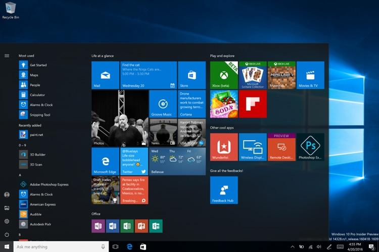 Обновление Windows 10 Anniversary Update стало доступно инсайдерам