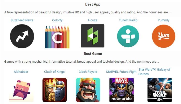 Игры по Звездным Войнам: Google Play Awards: определены номинанты премии