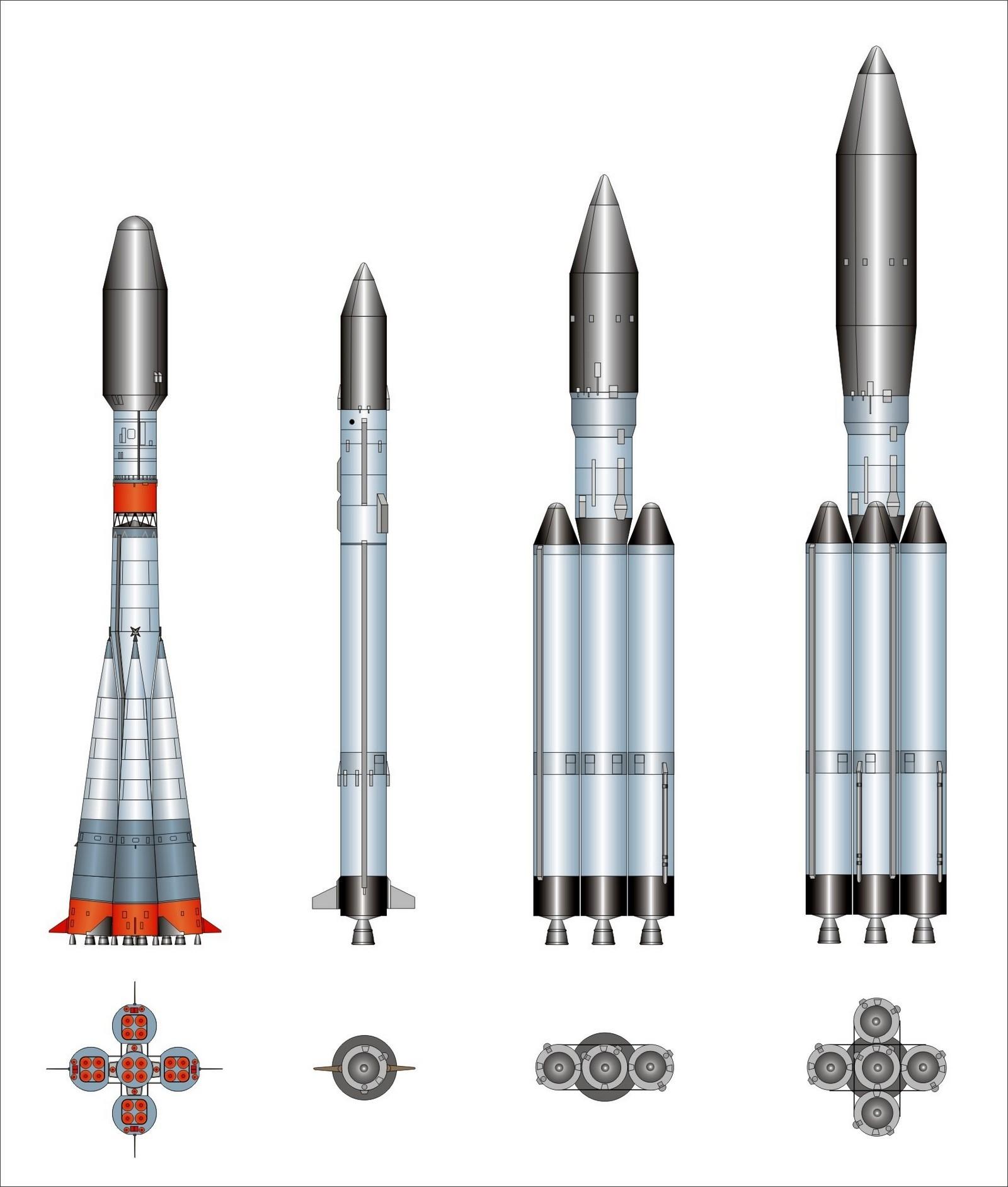 Союз-2, Ангара 1.2, Ангара 3(отменена в пользу Союз-5), Ангара 5