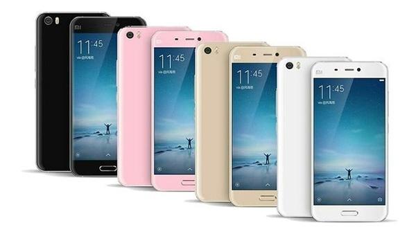 Xiaomi Mi5 – доступные цветовые решения (официальное фото)