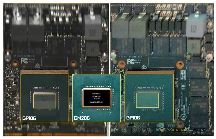 NVIDIA GeForce GTX 1060: процессор GP106, 256-битная шина памяти
