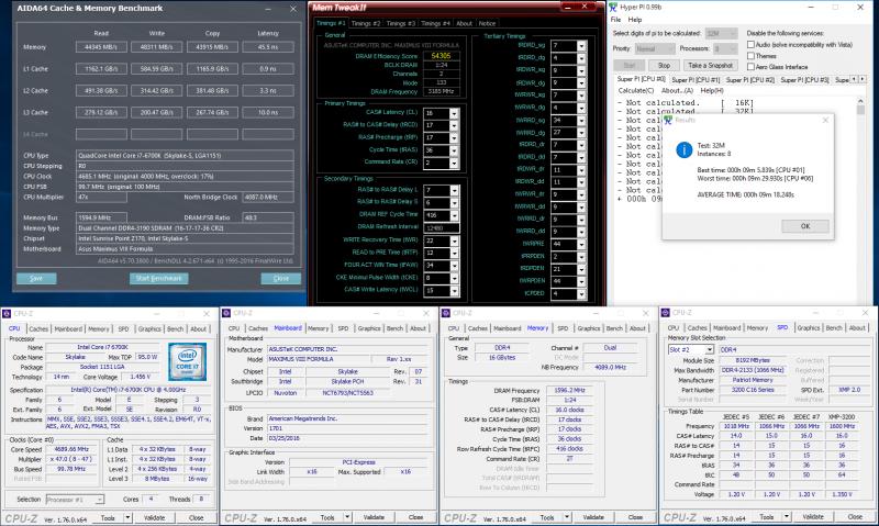 DDR4-3200, 16-17-17-36, 1,35 В