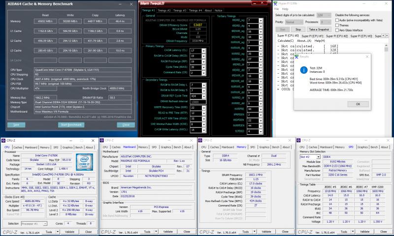 DDR4-3333, 17-19-19-39, 1,35 В